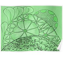 Green Zentangle Poster