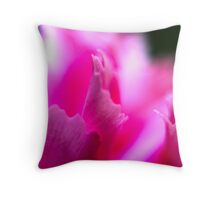 flowers pink macro  Throw Pillow