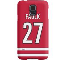 Carolina Hurricanes Justin Faulk Jersey Back Phone Case Samsung Galaxy Case/Skin