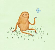 Sloth & Butterfly by Sophie Corrigan