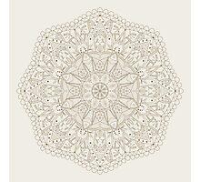 Mandala - abstract radial Indian symbol.  Photographic Print