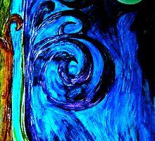 tree worships moon by Ameekathleen