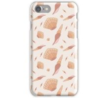 Seamless pattern with hand drawn sea shells. iPhone Case/Skin
