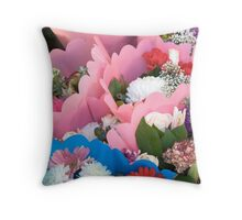 Bouquets of Flowers Throw Pillow
