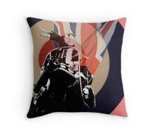 Mod Vespa Throw Pillow