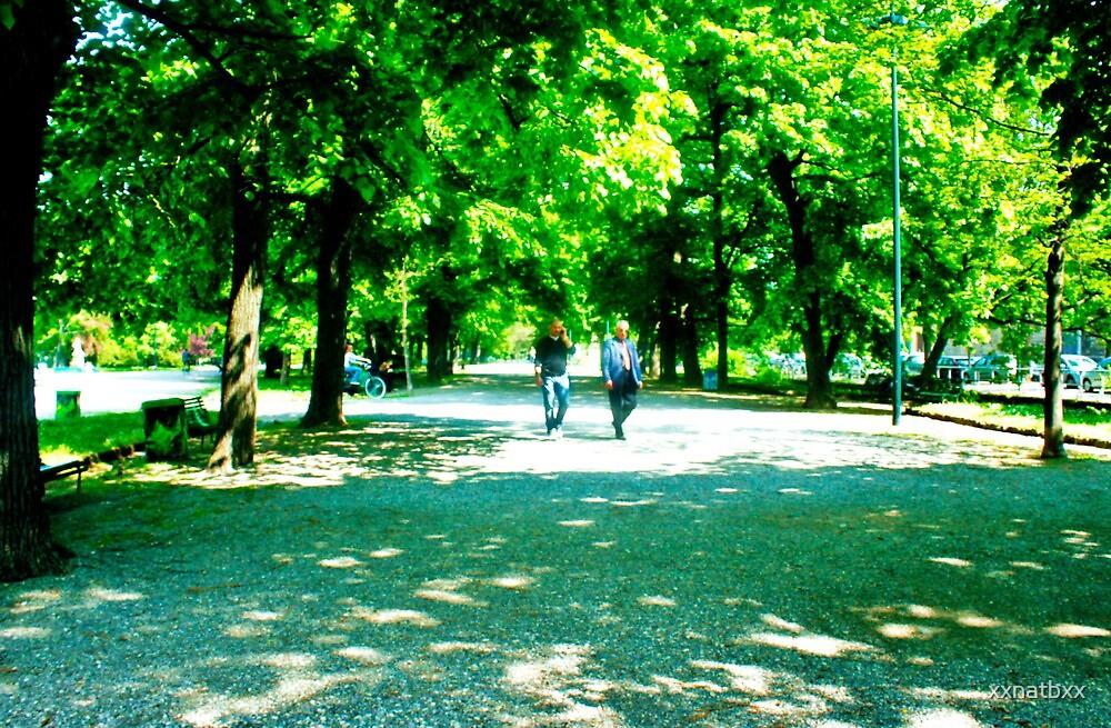 walking through the trees by xxnatbxx