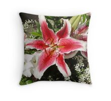 orchid colour eplosion Throw Pillow