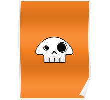 Mushroom Skull Poster