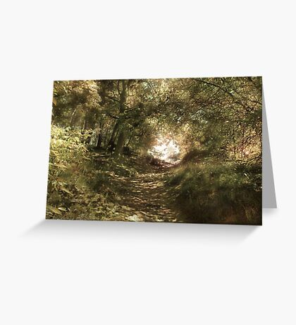 Up The Path Greeting Card