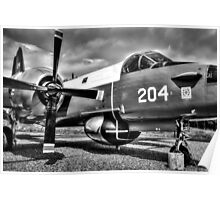 Vintage Fighter Aircraft Lockheed Neptune (Mono) Poster