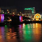 Colorful Portland Waterfront by Bob Hortman