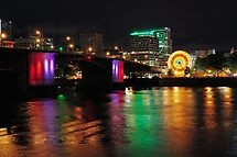 Colorful Portland Waterfront by Bob Hortman