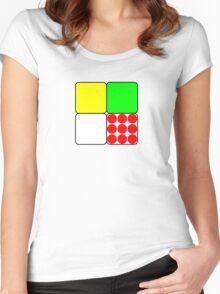 Tour de France Jerseys 3 White Women's Fitted Scoop T-Shirt