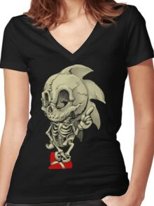 Hedgehog Skeletal System Women's Fitted V-Neck T-Shirt