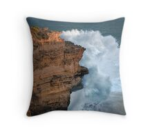 Don't Go Down the Cliff Today..... Throw Pillow