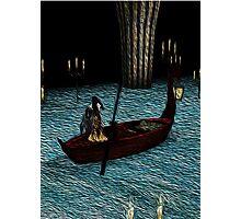 Christine on phantom's boat alone again Photographic Print