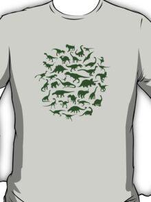 DINOSAURS - dark green T-Shirt