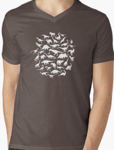 DINOSAURS - white Mens V-Neck T-Shirt