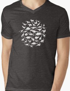 DINOSAURS - white Mens V-Neck T-Shirt