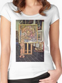 Gallery Front Crisman Art 3 Women's Fitted Scoop T-Shirt