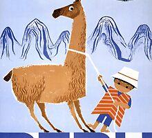 Peru Vintage Travel Poster Restored by Carsten Reisinger