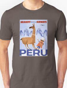 Peru Vintage Travel Poster Restored T-Shirt