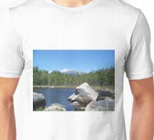 Mount Katahdin on the rocks Unisex T-Shirt