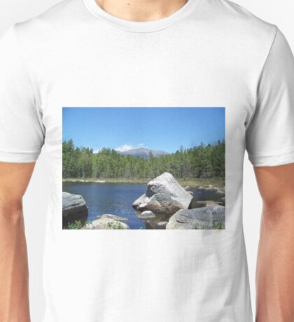 Mount Katahdin on the rocks Unisex T-Shirt