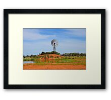 Outback Windmill (after rain) Framed Print