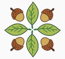 Acorn & Leaf Pattern by suhaylah