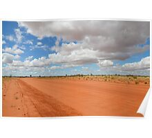 Red Dusty Outback Road Poster