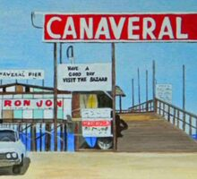 Canaveral Pier 1963-64 by MGilroy Sticker