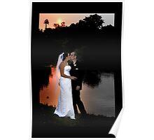 sunset wedding Poster