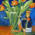 Tulips and champagne by Tash  Luedi Art