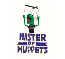 Master Of Muppets Art Print