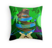 Save Mother Earth Throw Pillow
