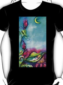 THUMBELINA SLEEPING BETWEEN ROSE LEAVES T-Shirt