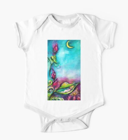 THUMBELINA SLEEPING BETWEEN ROSE LEAVES One Piece - Short Sleeve