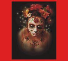 Dios Des Los Muertos- sugar skulls 13 One Piece - Short Sleeve