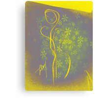 yellow figure Canvas Print