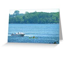 Kayaking along the Maine coast Greeting Card