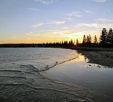 Victor Harbor beach at sunset by AdelaideBound