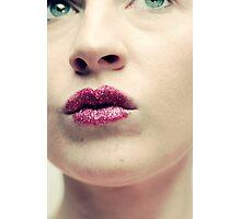 Glitter Lips 7 Photographic Print