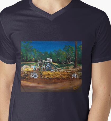 Mud Bashing Buggy Mens V-Neck T-Shirt