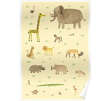 African Animals Poster