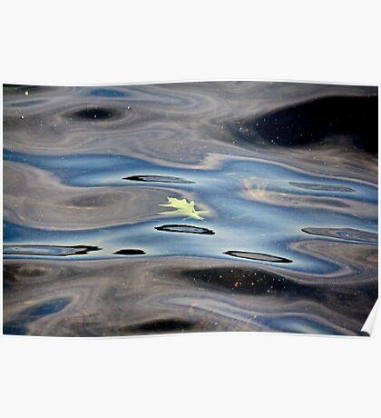 Green Leaf Floating Poster