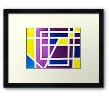 JUNE in abstract art Framed Print