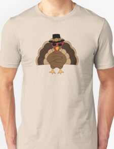 Cool Turkey with sunglasses Happy Thanksgiving Unisex T-Shirt