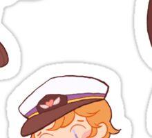 captain martin 'cutie' crieff Sticker