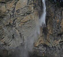 Waterfall in Lauterbrunnen, Switzerland by Laura Sanders